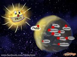 Lors des attentats à Paris, et surtout lors d'attentas à l'humanité