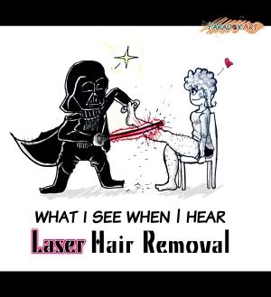 """Ce que je vois quand j'entends """"épilation au laser"""""""